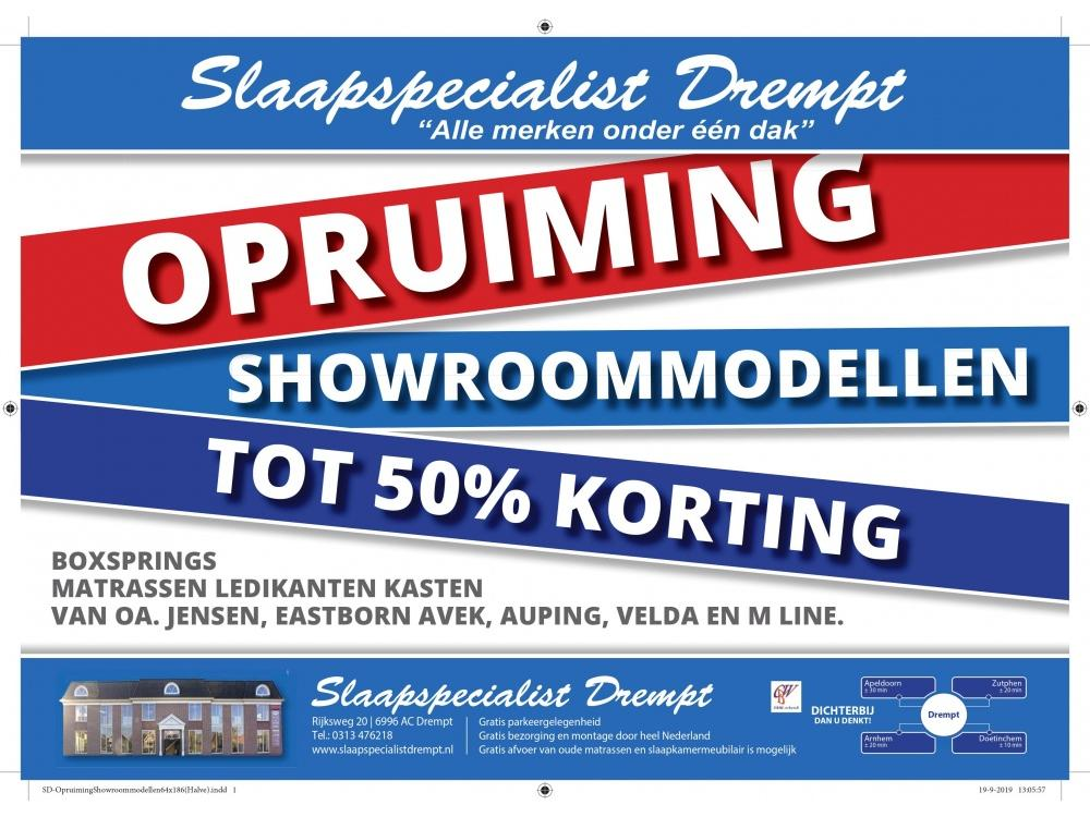Opruiming showroommodellen.